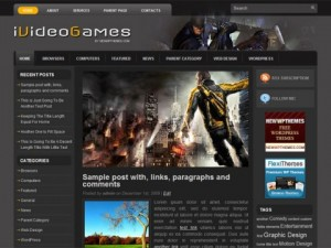 iVideoGames-Free-WordPress-Theme